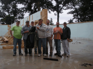 The Crew After a Successful Pour